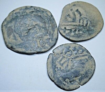 1600s Copper Spanish Cob 8 Maravedis Countermarked Pirate US Colonial Coin Money