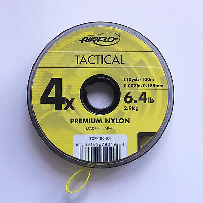 Airflo Tippet Leader Tactical Fly Fishing CoPolymer 100m Spools Various Sizes