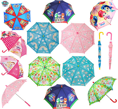 Kids Childrens Dome Umbrella Gift Folding Boys Girls Character Umbrellas