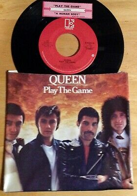 Queen 45 Play The Game / A Human Body  w/ts  w/PS