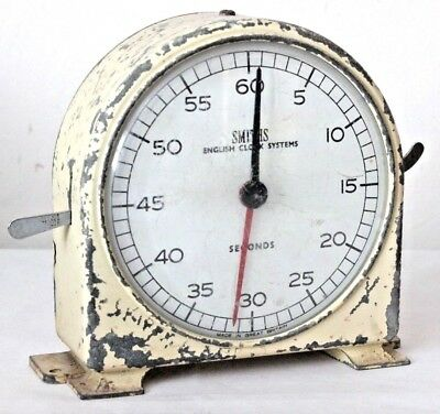 Smiths Vintage Metal Mechanical Darkroom Minutes And Seconds Timer