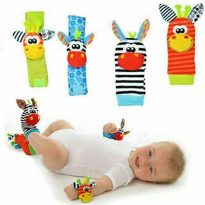Socks Baby Infant Kids Wrist Foot Rattle And Toys Rattles Soft Infant Animal Toy
