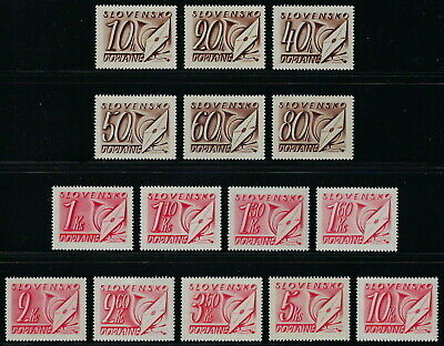 Slovakia WWII 1942 Postage Dues Set Complete VF MNH!