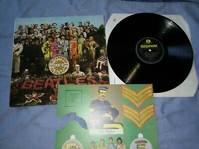 THE BEATLES<sgt. peppers lonely hearts club band>1967-FIRST UK PRESS- MONO -EX