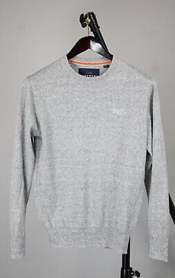1723cfa861 THE SUPERDRY PREMIUM KNITWEAR Men s MEDIUM Cashmere Blend Thin Sweater  RCS12381