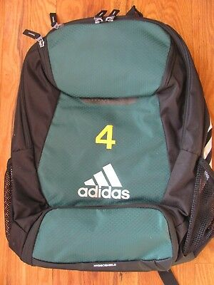 ADIDAS CLIMAPROOF STADIUM Team Gear Up Soccer Backpack Green with  4 ... 71d90de7b5a0e
