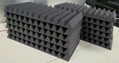 Acoustic Studio Soundproofing Foam Panels Wedge/Pyramid (12) 24'' x 48''x 4''