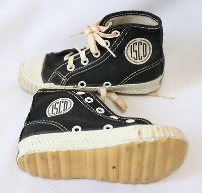 Vintage Kids Boys Sneakers Dead Stock 9 1/2 High Top Canvas Shoes