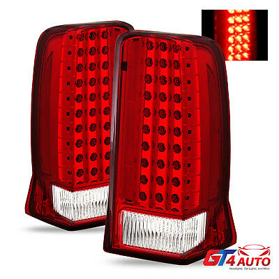 Red Clear LED Brake Tail Lights For 2002-2006 Cadillac Escalade