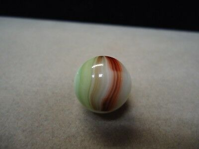 Vintage Akro Agate Brushed Oxblood Patch Marble  5/8  Mint +