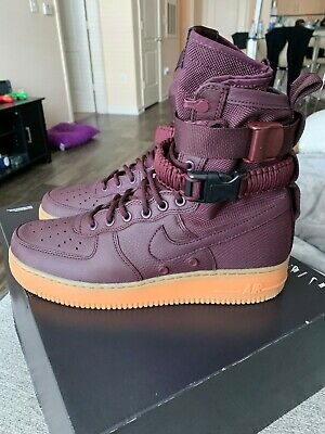 the best attitude 9eea1 bf371 Nike SF AF1 Air Force 1 Special Forces Deep Burgundy Gum 864024-600 SZ