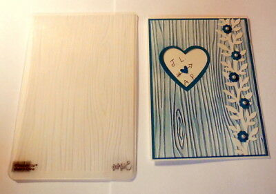 Stampin up Woodgrain Embossing folder~Trees~Retired