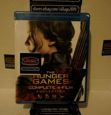THE HUNGER GAMES COMPLETE 4 FILM COLLECTION New Blu-ray