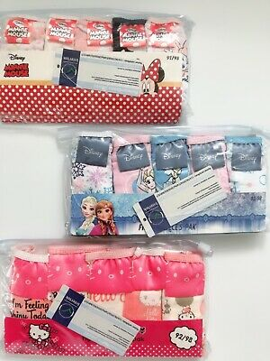 Girls Children Frozen Minnie Cotton Panties Underwear Undies Bottoms Briefs set
