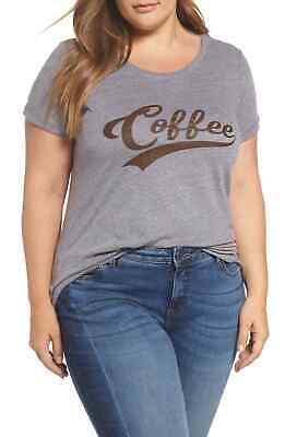 0361658d96d Sub Urban Riot NEW Gray Womens Size 2X Plus Coffee Graphic T Shirt Top  39  329