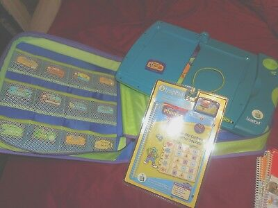 Leap Frog LeapPad Leap Pad Learning System with case 17 books and 14 cartridges