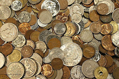 Huge Old Coin Collection Estate Sale Lots Set By The Pound With Silver Coins ! A