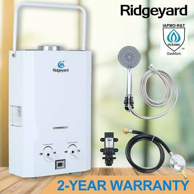 6L Ridgeyard Hot Water Heater Portable Shower Camping LPG Outdoor Instant Boiler