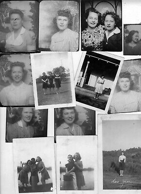 ORIGINAL VINTAGE PHOTOS LOT: Women Girls Pin-Up Dames Arcade Portraits 40's 40s