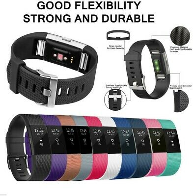 8 Pack Replacement Wristband For Fitbit Charge 2 Band Silicone Fitness Sport