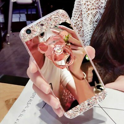 Bling Crystal Mirror Protective Diamond Cover Case for iPhone Xs Max XR 7 8 Plus