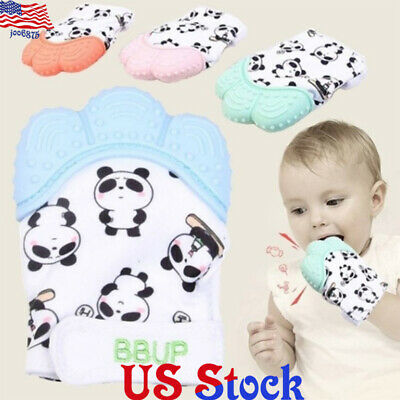 Baby Silicone Mitts Teething Mitten Cow Teething Molar Gloves Wrapper Teether