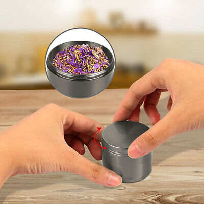 4pcs Grey Tobacco Herb Spice Grinder Herbal Alloy Smoke Metal Chromium Crusher