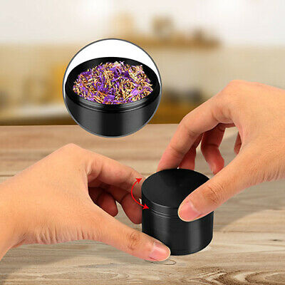 4pcs Black Tobacco Herb Spice Grinder Herbal Alloy Smoke Metal Chromium Crusher