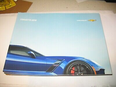 2018 CHEVROLET CORVETTE 62-page Sales Brochure STING RAY GRAND SPORT Z06 NEW!!!!