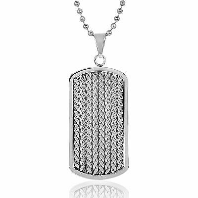 5157165f9975 BEN SHERMAN MEN S Stainless Steel British Flag Dog Tag Necklace ...