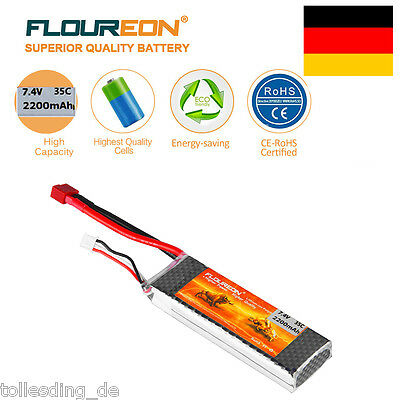 2S 7.4V 2200mAh 35C T Plug LiPo Batterie Akku for RC Evader BX Car RC Truck DE