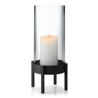 Blomus Nero Candle Holder, Candlestick, Tealight, Decoration, Steel/Glass, 32 cm