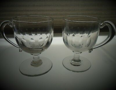 Pair Of Matching Antique Victorian Custard Cups.