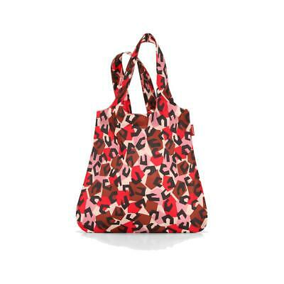 reisenthel Mini Maxi Shopper, Shopping Bag, Pocket, Collection 13, Leopard Red