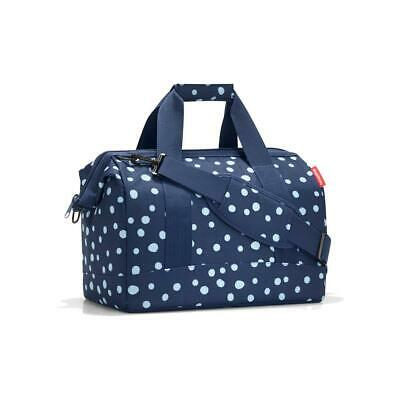 reisenthel Allrounder M, Travel Bag, Sports Bag, Polyester Fabric, Spots Navy