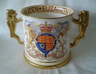 Large Paragon Bone China Queen Elizabeth 11 1953 Loving Cup Limited Edition 1000