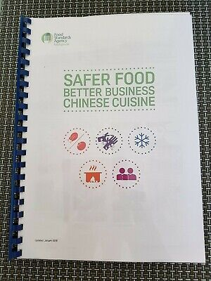 Safer Food Better Business Chinese Cuisine - FSA Compliant Pack (SFBB) 2019