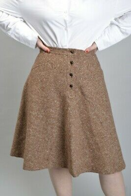 Tom Gilbey London Couturier Early 1970s Fine Donegal Tweed Skirt. Ref KJRJ
