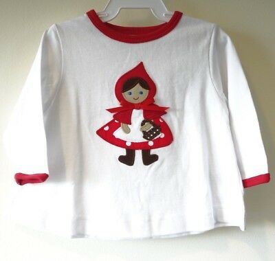New Kelly's Kids Gianna Appliqued Red Riding Hood Swing Top Size 6 Month