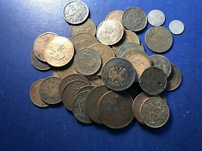 Massive Bulk Lot of 43 Older Cull Struck Chinese Coins Lot#A6 Including Silver!