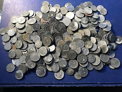 Massive Bulk Lot of ~363 Third Reich Cull Coins 1930's & 1940's Lot#A9 Low Grade