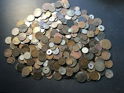 Massive Bulk Lot of 500 Older World Cull Coins 1800's & Early 1900's Lot#A12