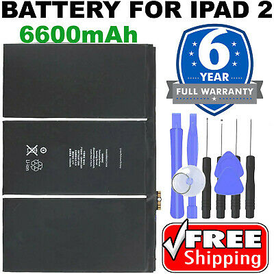 Free Tools New 6500mAh 3.8V Internal Battery Replacement for iPad 2 Gen A1376