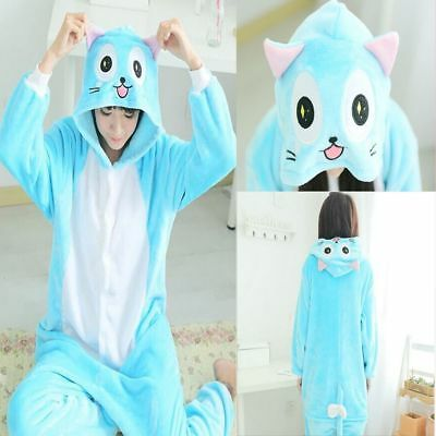 2019# HOT Happy Cat Unisex Adult Kigurumi Cosplay Animal Pajama Sleepwear