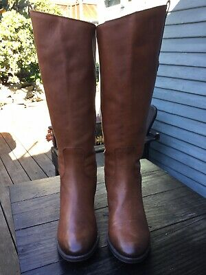 964fb8605 NEW SAM EDELMAN Womens Penny Whiskey Leather Riding Boots Size 6.5 ...