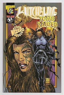 Witchblade Tomb Raider Wizard 1/2 Gold Edition VfNm w COA Top Cow Comics Book