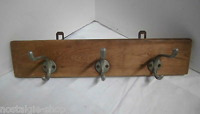 1960s 1970s Cloakroom Wall Coat Rack Mounting Wood Country House Style