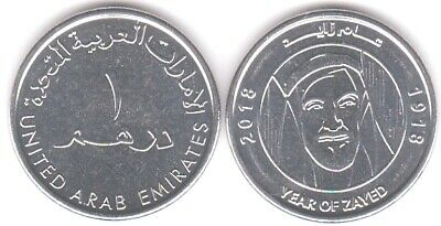 United Arab Emirates 1 D. 2018 Year Of Zayed Uncirculated