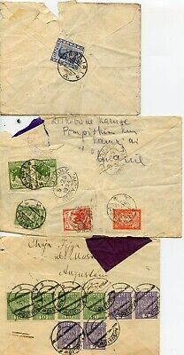 POLAND AND LITHUANIA--3 Covers sent in 1934 to 1937
