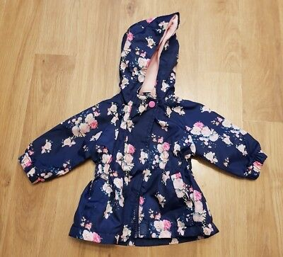 gorgeous baby girls 0-3 months jacket raincoat lightweight lined